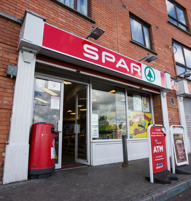The Spar shop in Crumlin