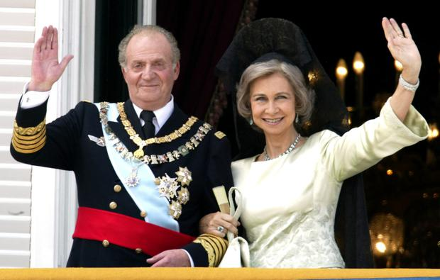Former king of Spain Juan Carlos and his wife Queen