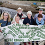Noeleen McManus (centre), of the Swap group in Bray, Co Wicklow, with Eleanor Phillips, Dina Doyle, Derek Crinion, Catherine Byrne, Vincent Eaves and Marie Moorehouse