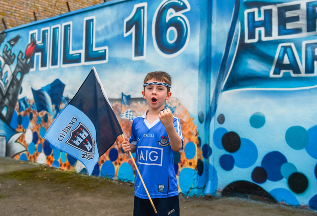 Dublin supporter Evan Price, aged 6, from Cabra. Photo: Sportsfile