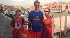 Clodagh with sons Liam, Niall and Ryan