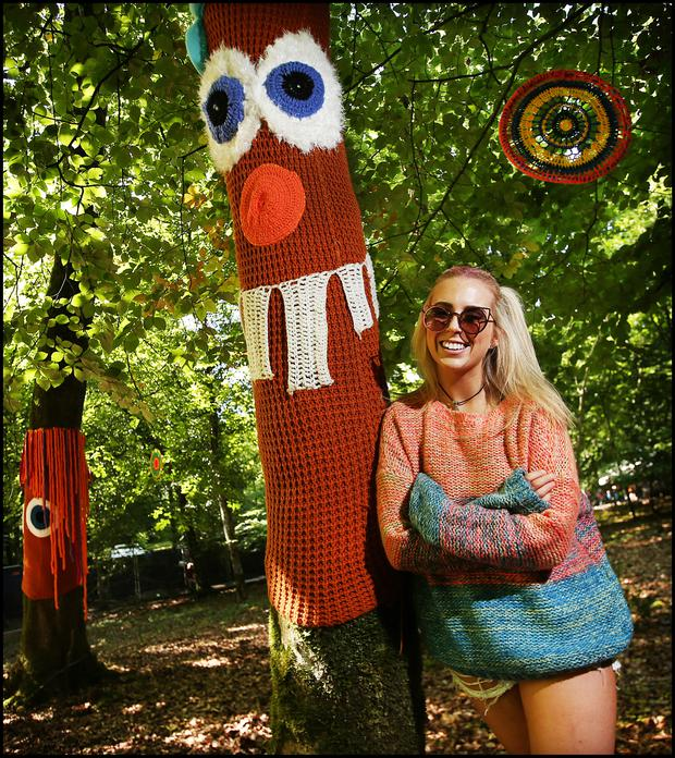 Robyn Collins from Castleknock at the Yarn Bombers area at Electric Picnic