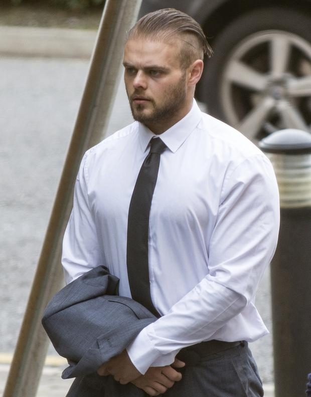 Thomas Gleeson (22) is alleged to have 'narrowly missed' the female officer during a struggle at Adamstown station