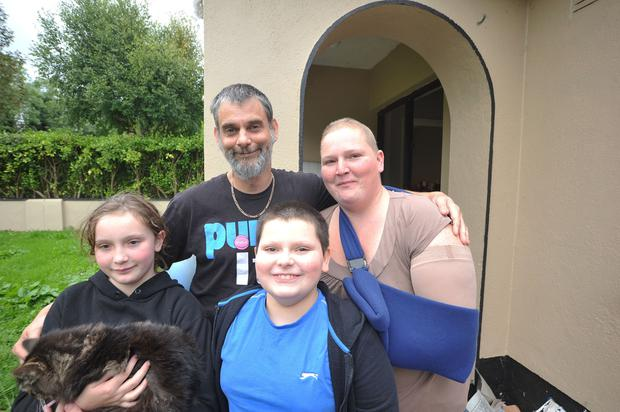 Kevin and Caroll Haslin with children Niamh and Daniel. Photo: Seamus Farrelly