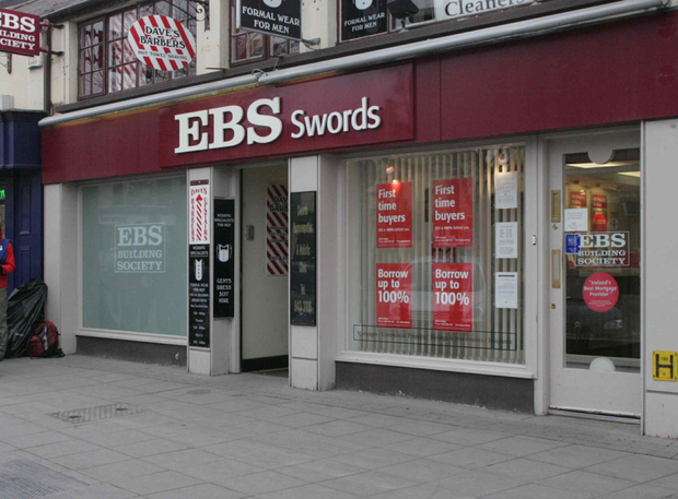 The knife attack happened outside the EBS bank in Swords