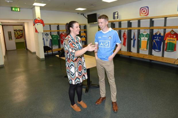 Behind the scenes at Croke Park with Elaine Casey (Event Controller) Ryan Nugent.