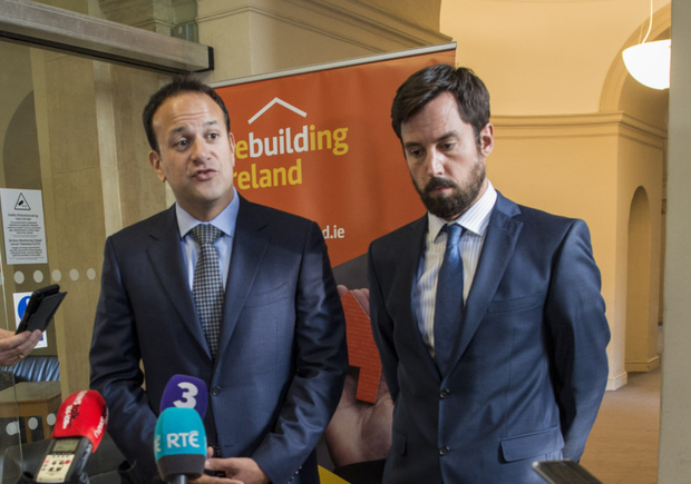 Taoiseach Leo Varadkar and Housing Minister Eoghan Murphy attending a housing summit earlier this month