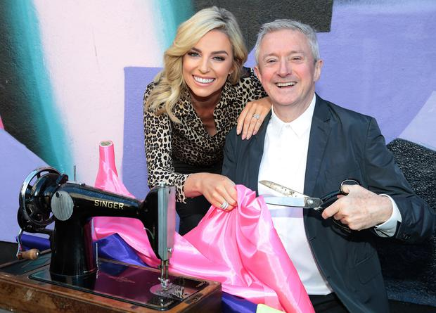 Judges Pippa O Connor and Louis Walsh at the launch of the Bank of Ireland Junk Kouture Competition at the Tivoli Theatre Dublin.