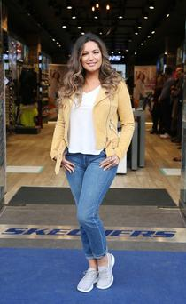 Skechers Brand Ambassador, model and actress Kelly Brook