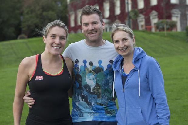 Susanna Murphy, Ronan Cunningham and Rachel Murphy turned out for the Cabinteely parkrun on Saturday. Photo: Fergal Phillips