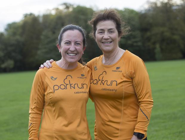 Mother and daughter Lisa and Mairin Shine took part in the 5k run at the weekend. Photo: Fergal Phillips