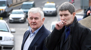 John Gilligan (left) with his son Darren