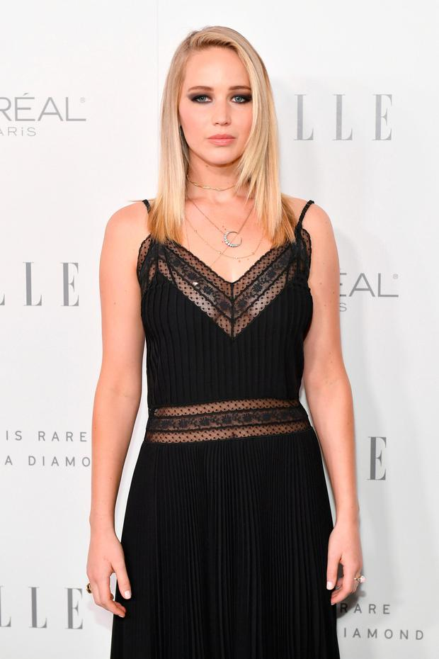 Jennifer Lawrence at the Elle Women in Hollywood Awards in LA, where she spoke out about the 'humiliating' event