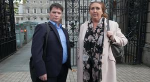 Sean Phillips and his wife Norma outside Leinster House