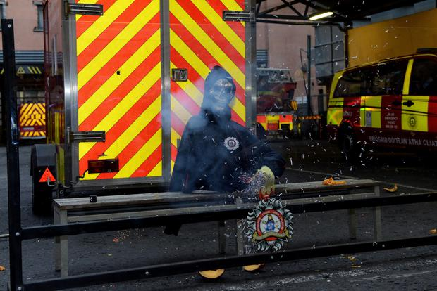 A Dublin Fire Brigade briefing was held recently on how to enjoy the Halloween celebrations safely