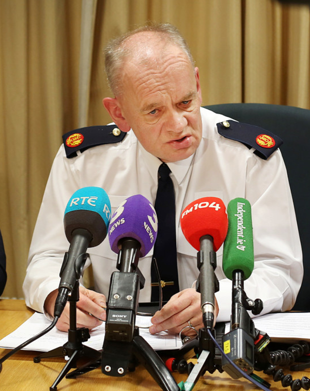 Assistant garda commissioner John O'Driscoll briefs the press yesterday
