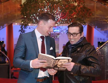 Philly McMahon, pictured in the Helix UCD with Aslan lead singer Christie Dignam at the launch of his autobiography, The Choice