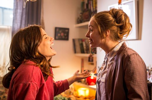 Nika McGuigan (left) and Seana Kerslake in comedy-drama Can't Cope, Won't Cope