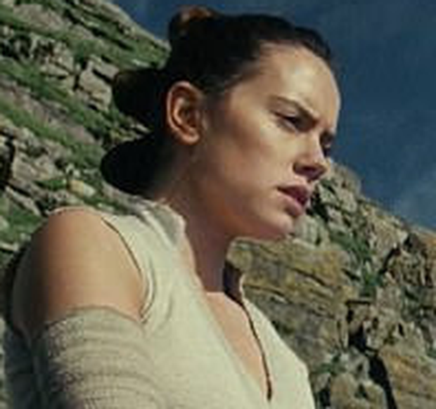 Co-star Daisy Ridley as Rey