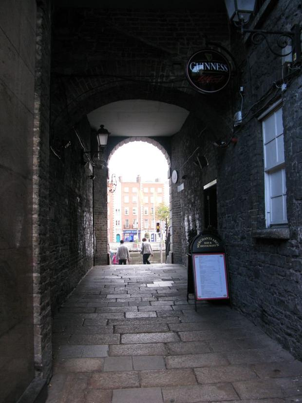 Merchant's Arch in Dublin
