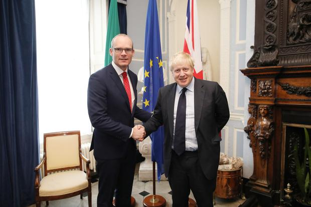 Simon Coveney and Boris Johnson