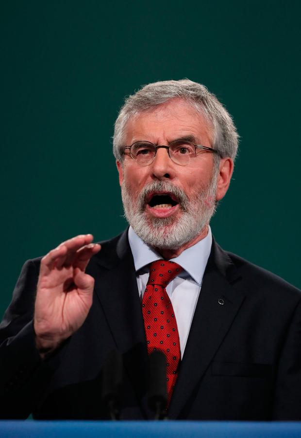 Sinn Fein leader Gerry Adams. Photo: PA