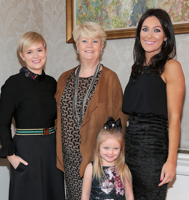 Cecelia, Miriam and Georgina Ahern with Gia Byrne