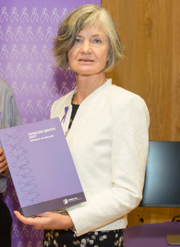 Women's Aid director Margaret Martin with the 2017 report