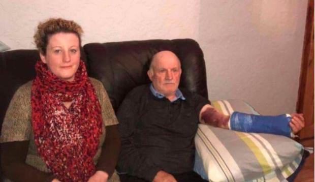 Katherine and her dad Gerard McKenna, who was hospitalised after a 'traumatic' accident