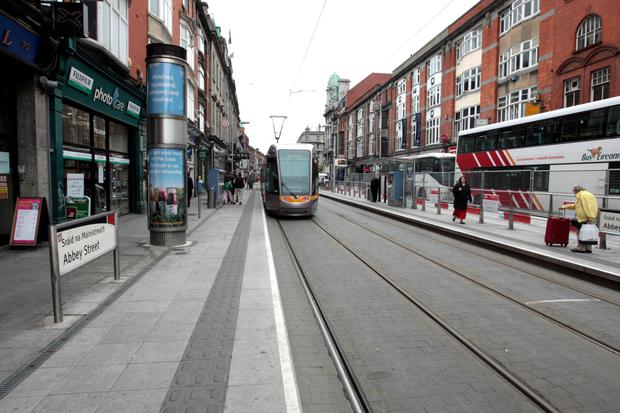 David O'Reilly was helped by fellow passengers at Abbey Street Luas stop
