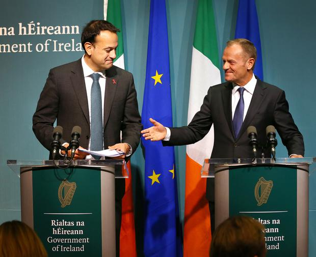 Donald Tusk offered a hand of friendship to Leo Varadkar