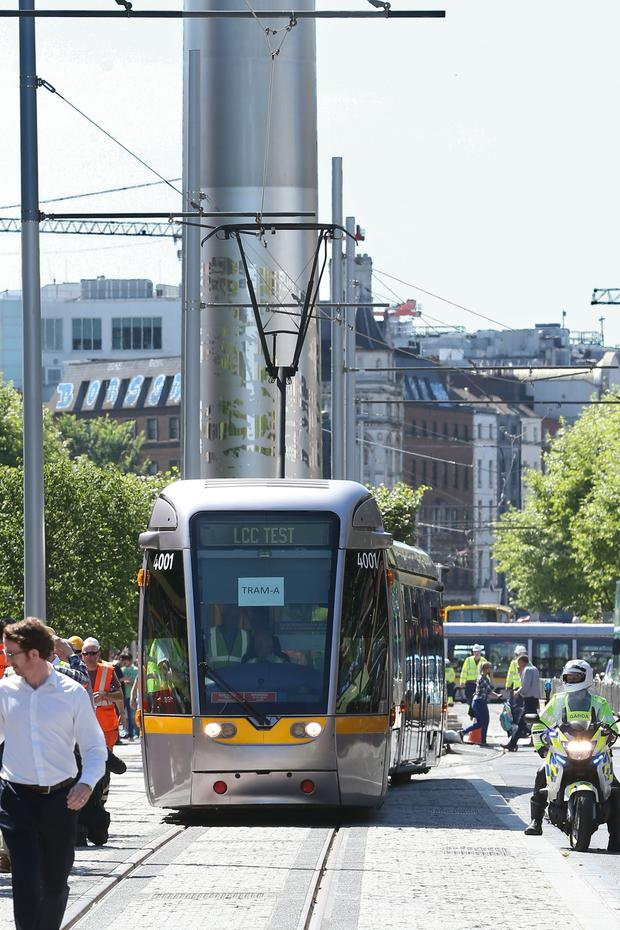 The new Luas Cross City line opens to commuters today