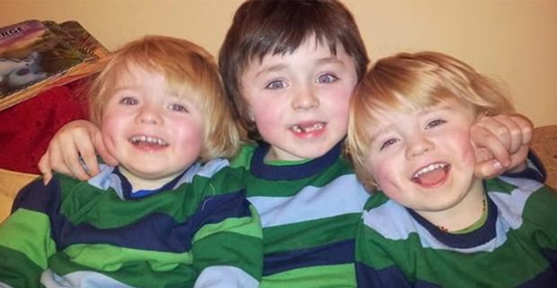 Brothers Archie (centre), Isaac and George sent heartbreaking letters to Santa Claus asking for a cure for their disease, new legs for running and a Jacuzzi to help their muscles