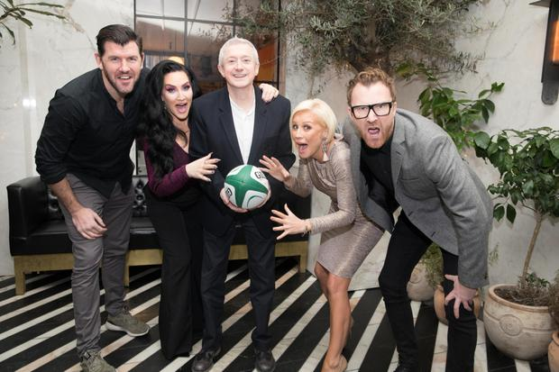 Shane Horgan, Michelle Visage, Louis Walsh, Denise Van Outen and Jason Byrne at the launch