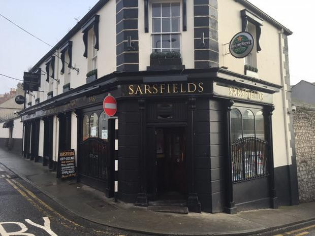 Sarsfields pub in Drogheda where the pipe bomb was found