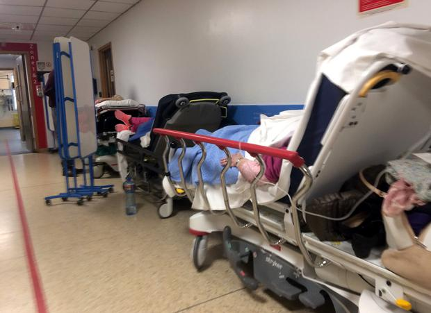 Patients are having to endure the indignity of mixed wards as the trolley crisis continues to leave many hospitals with dangerous levels of overcrowding