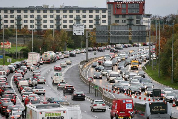 commuters facing headache as two collisions cause delays on the m50