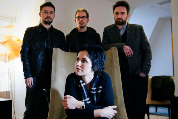 Dolores O'Riordan with her bandmates from rock group The Cranberries Photo: Getty