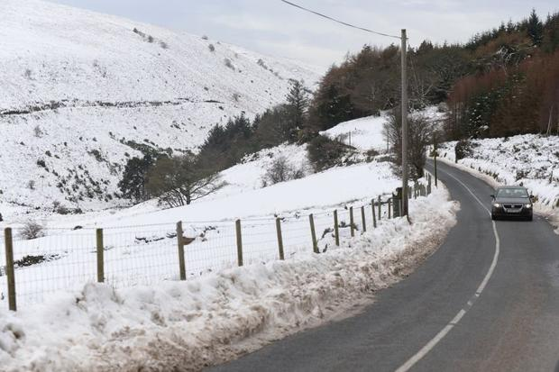The snow in Glencullen before the Christmas break