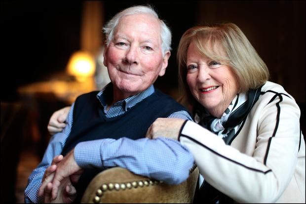 Gay Byrne and wife Kathleen Watkins