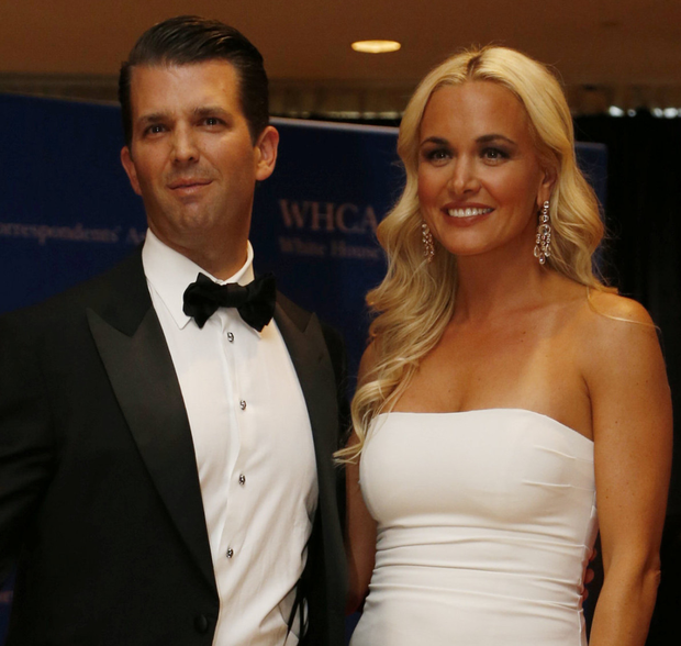 President's son Donald Trump Jnr and his wife Vanessa