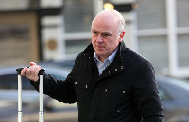 Former Anglo Irish Bank chief executive David Drumm arrives at Dublin Circuit Criminal Court. Photo: Collins Courts