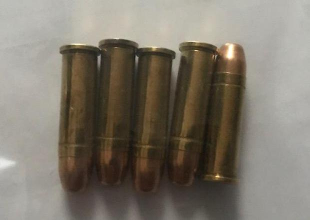 The ammunition found during a garda search in Dublin