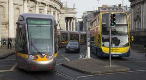 Buses, Luas trams and taxis vie for space at College Green