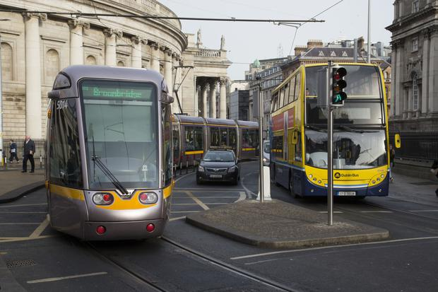 Luas trams moving at 'slow jogging pace' through city centre