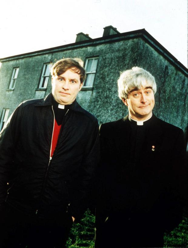 Goggleboxers 'just quote the show' when watching Father Ted. Photo: Channel 4