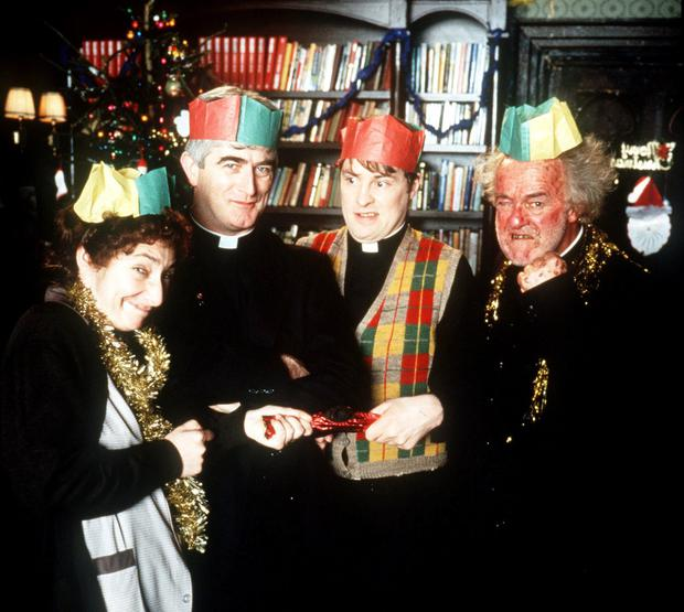 Father Ted stars Pauline McLynn, Dermot Morgan Ardal O'Hanlon and Frank Kelly