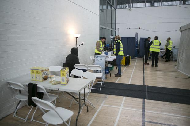 The Emergency Homeless Shelter in St Catherine's sports centre