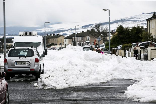 Snow in the Donomore Avenue and Killinarden Park area of Tallaght, close to where Tony Nolan died