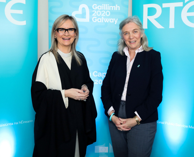 RTÉ's Dee Forbes and Galway 2020 CEO Hannah Kiely announce their partnership for Galway 2020 European Capital of Culture